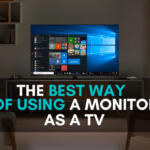 how to use monitor as tv