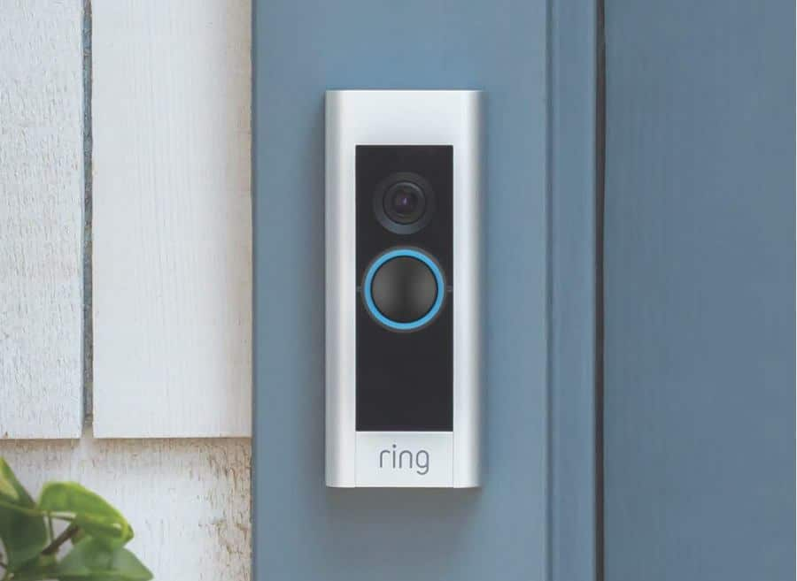 why is my ring doorbell flashing blue