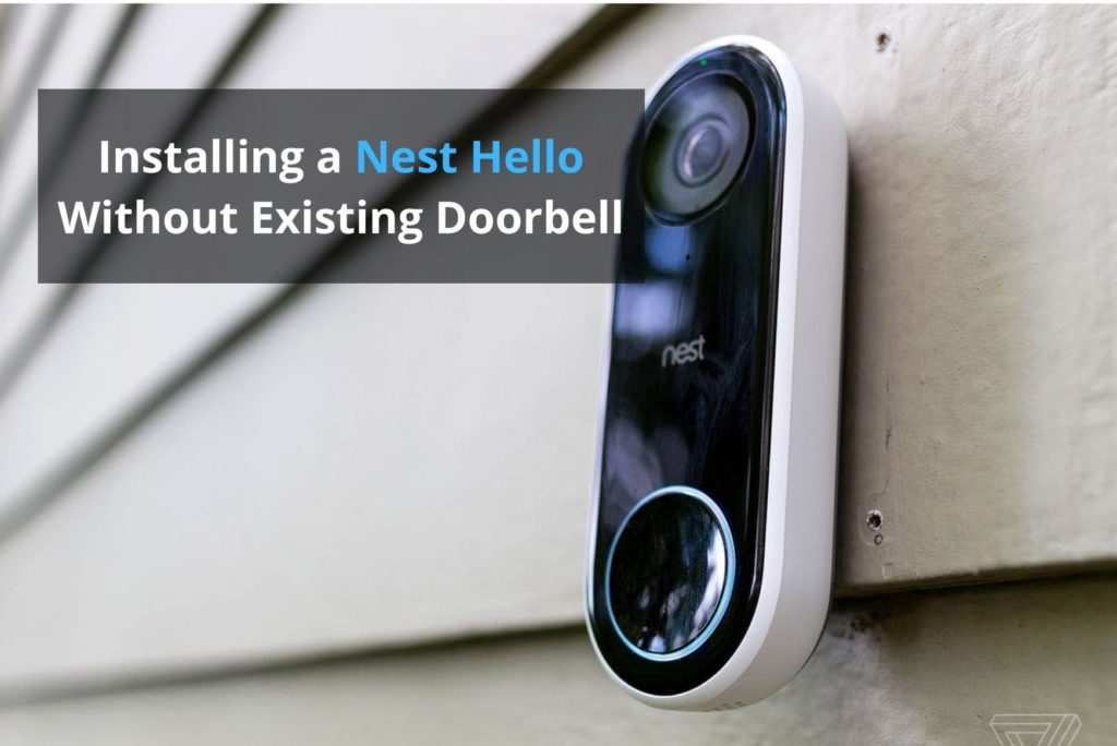 install nest hello without existing doorbell